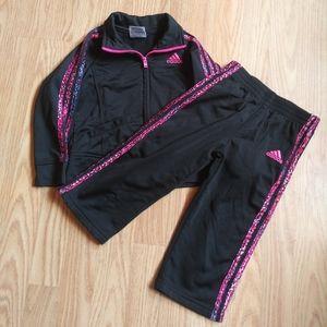 Adidas Girl's 2-Piece Track Suit EUC